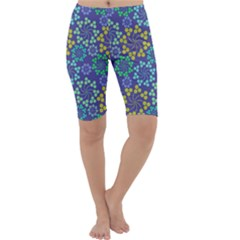 Color Variationssparkles Pattern Floral Flower Purple Cropped Leggings