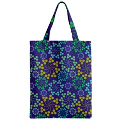 Color Variationssparkles Pattern Floral Flower Purple Zipper Classic Tote Bag