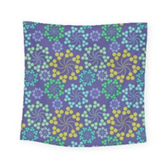 Color Variationssparkles Pattern Floral Flower Purple Square Tapestry (small)