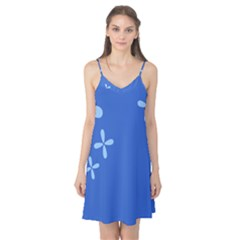 Flower Floral Blue Camis Nightgown