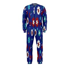 Flower Floral Flowering Leaf Blue Red Green OnePiece Jumpsuit (Kids)
