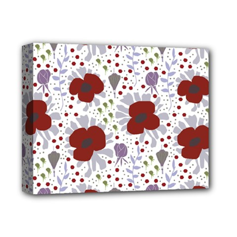 Flower Floral Rose Leaf Red Purple Deluxe Canvas 14  x 11