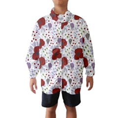 Flower Floral Rose Leaf Red Purple Wind Breaker (kids)
