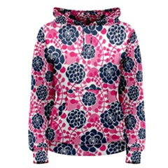 Flower Floral Rose Purple Pink Leaf Women s Pullover Hoodie