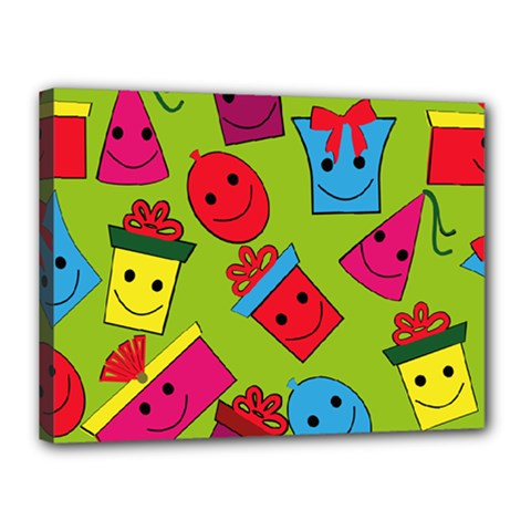 Happy Birthday Background Canvas 16  x 12