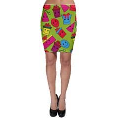 Happy Birthday Background Bodycon Skirt