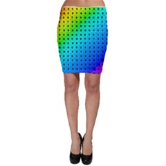 Letters Numbers Color Green Pink Purple Bodycon Skirt