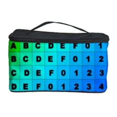 Letters Numbers Color Green Pink Purple Cosmetic Storage Case