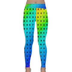 Letters Numbers Color Green Pink Purple Classic Yoga Leggings