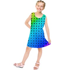 Letters Numbers Color Green Pink Purple Kids  Tunic Dress