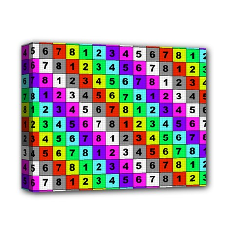 Mapping Grid Number Color Deluxe Canvas 14  x 11