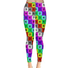 Mapping Grid Number Color Leggings