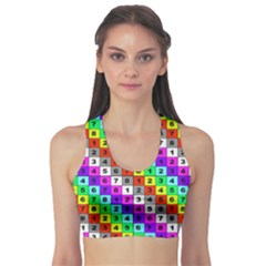 Mapping Grid Number Color Sports Bra