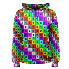 Mapping Grid Number Color Women s Pullover Hoodie