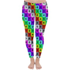 Mapping Grid Number Color Classic Winter Leggings