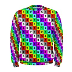 Mapping Grid Number Color Men s Sweatshirt