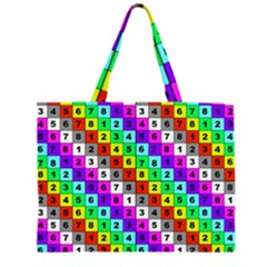 Mapping Grid Number Color Large Tote Bag