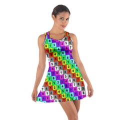 Mapping Grid Number Color Cotton Racerback Dress
