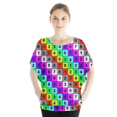 Mapping Grid Number Color Blouse
