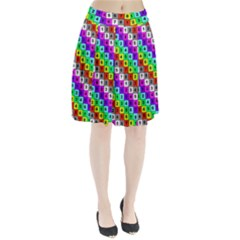 Mapping Grid Number Color Pleated Skirt