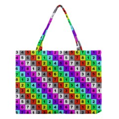 Mapping Grid Number Color Medium Tote Bag