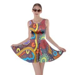 Mbantua Aboriginal Art Gallery Cultural Museum Australia Skater Dress