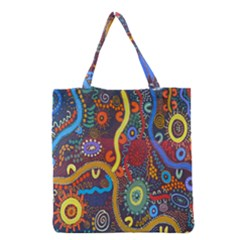 Mbantua Aboriginal Art Gallery Cultural Museum Australia Grocery Tote Bag