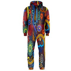 Mbantua Aboriginal Art Gallery Cultural Museum Australia Hooded Jumpsuit (Men)