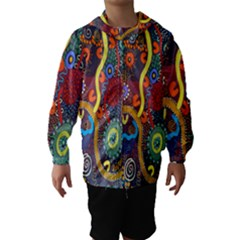 Mbantua Aboriginal Art Gallery Cultural Museum Australia Hooded Wind Breaker (kids)