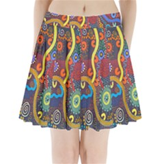 Mbantua Aboriginal Art Gallery Cultural Museum Australia Pleated Mini Skirt
