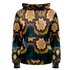 Ornate Floral Textile Women s Pullover Hoodie