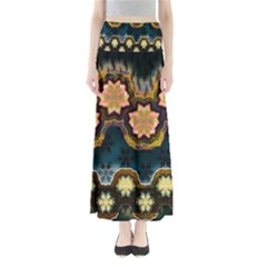 Ornate Floral Textile Maxi Skirts