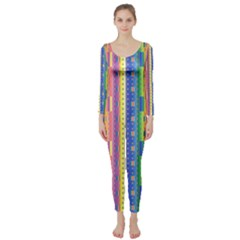 Psychedelic Carpet Long Sleeve Catsuit