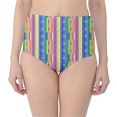 Psychedelic Carpet High-Waist Bikini Bottoms