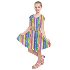 Psychedelic Carpet Kids  Short Sleeve Dress