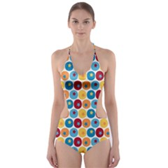 Star Ball Cut-Out One Piece Swimsuit