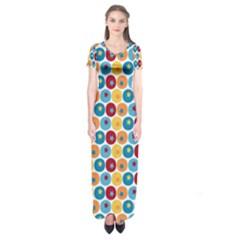 Star Ball Short Sleeve Maxi Dress