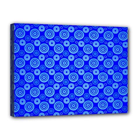 Neon Circles Vector Seamles Blue Canvas 16  x 12