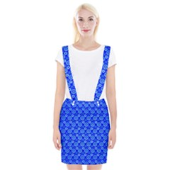 Neon Circles Vector Seamles Blue Suspender Skirt