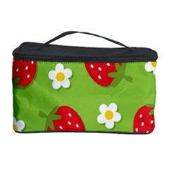 Strawberries Flower Floral Red Green Cosmetic Storage Case