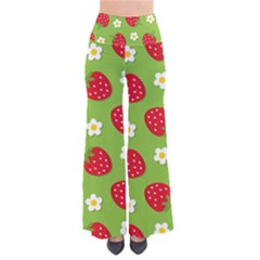 Strawberries Flower Floral Red Green Pants