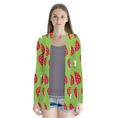 Strawberries Flower Floral Red Green Cardigans