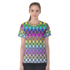 Test Number Color Rainbow Women s Cotton Tee