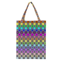 Test Number Color Rainbow Classic Tote Bag