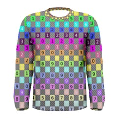 Test Number Color Rainbow Men s Long Sleeve Tee