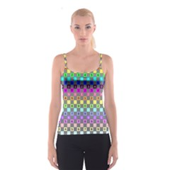 Test Number Color Rainbow Spaghetti Strap Top