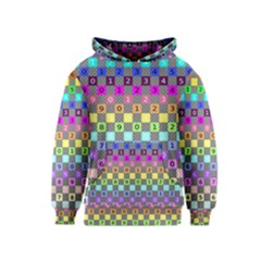 Test Number Color Rainbow Kids  Pullover Hoodie