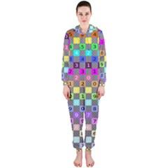 Test Number Color Rainbow Hooded Jumpsuit (Ladies)