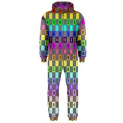 Test Number Color Rainbow Hooded Jumpsuit (Men)