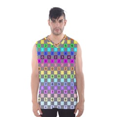 Test Number Color Rainbow Men s Basketball Tank Top